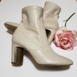 Zara cream ankle boots